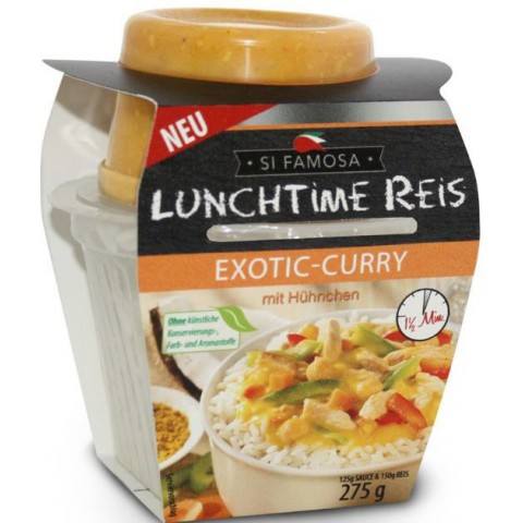 Si Famosa Lunchtime Reis Exotic Curry