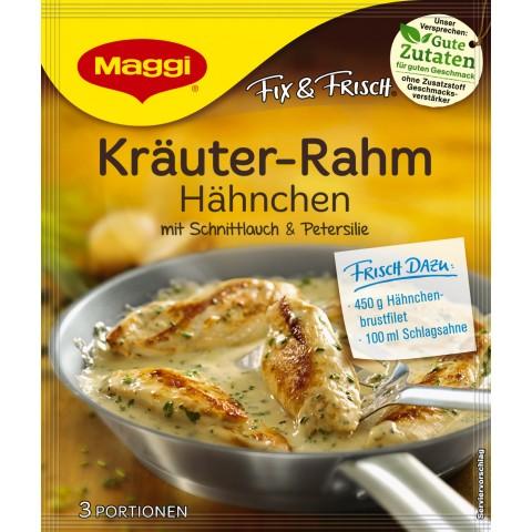 Maggi Fix & Frisch Fix für Kräuter-Rahm Hähnchen