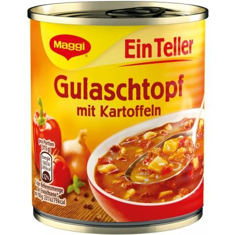 Maggi Ein Teller Gulaschtopf mit Kartoffeln 315 g
