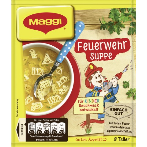 Maggi Guten Appetit! Feuerwehr Suppe für 3 Teller