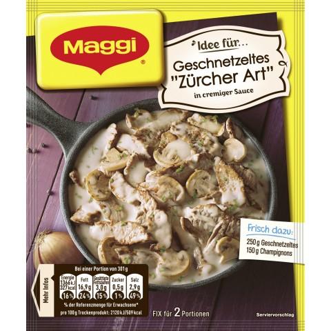 """Maggi Idee für Geschnetzeltes """"Züricher Art"""" 52 g"""