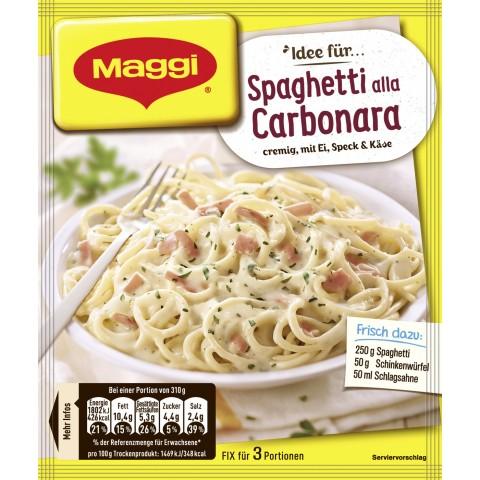 Maggi Idee für Spaghetti alla Carbonara 34 g