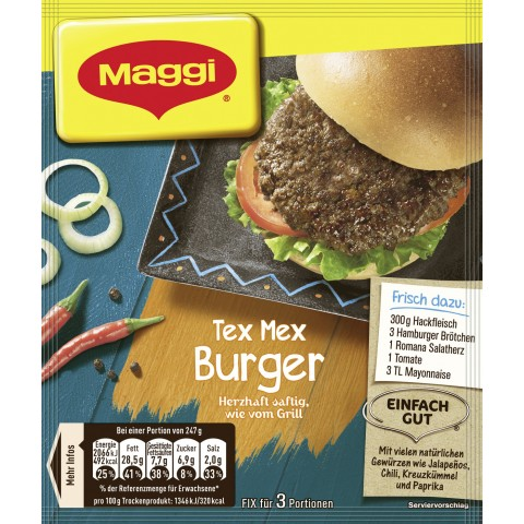 Maggi Tex Mex Burger 26 g