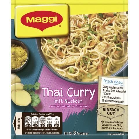 Maggi Thai Curry mit Nudeln 34 g