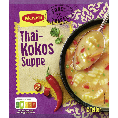 Maggi Food Travel Thai-Kokos Suppe ergibt 500ML