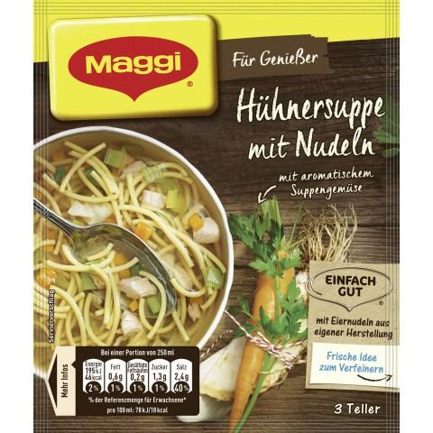 Maggi Für Genießer Hühnersuppe mit Nudeln für 3 Teller