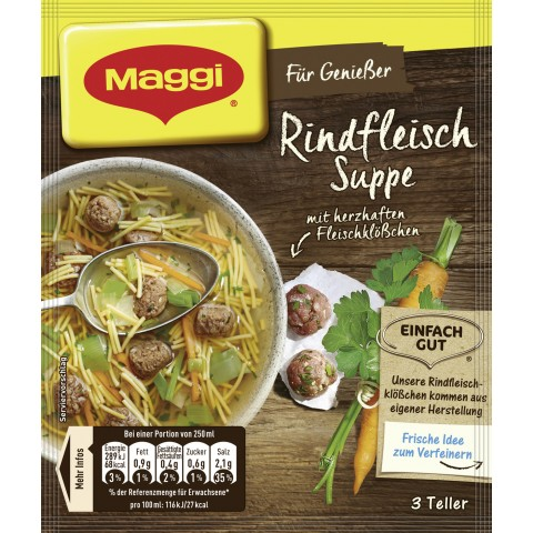 Maggi Für Genießer Rindfleisch Suppe ergibt 750 ml
