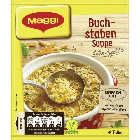 Maggi Guten Appetit! Buchstaben Suppe für 4 Teller