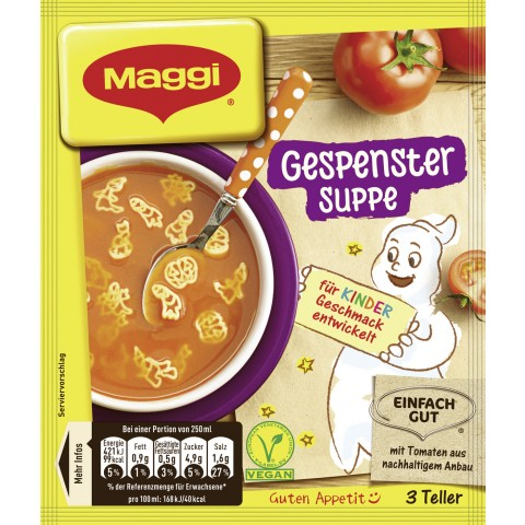 Maggi Guten Appetit! Gespenster Suppe ergibt 750 ml