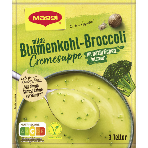 Maggi Guten Appetit Milde Blumenkohl-Broccoli Cremesuppe ergibt 750ML