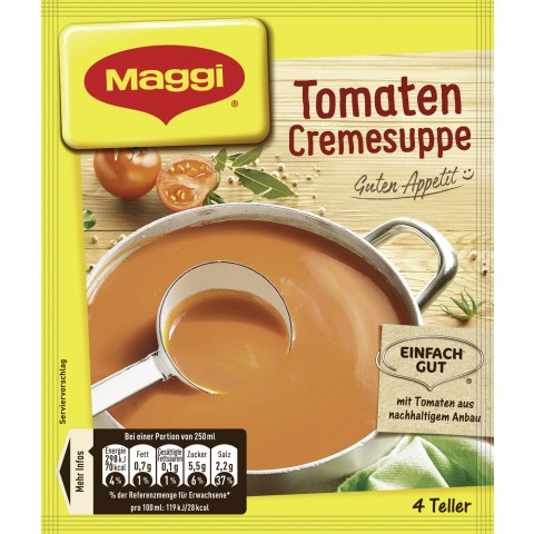 Maggi Guten Appetit! Tomaten Cremesuppe ergibt 1 ltr