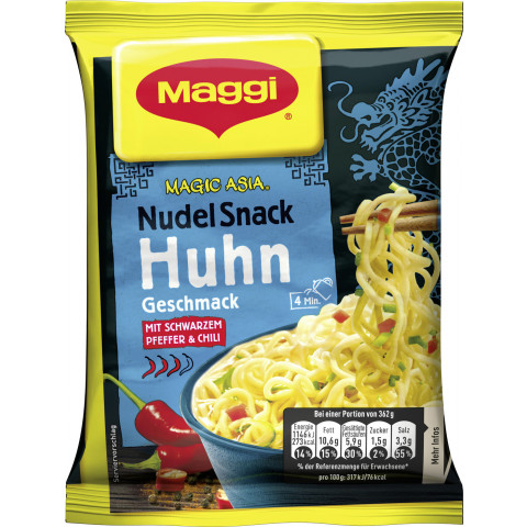 Maggi Magic Asia Nudel Snack Instant Huhn 62 g