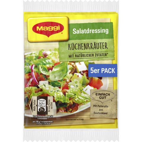 Maggi Salatdressing Küchenkräuter 5x 8 g
