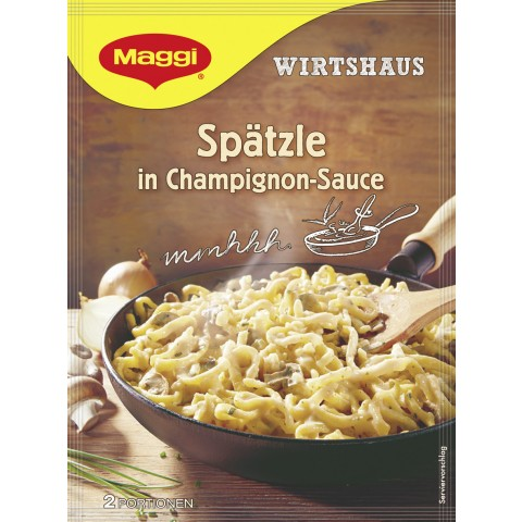 Maggi Wirtshaus Spätzle in Champignon-Sauce