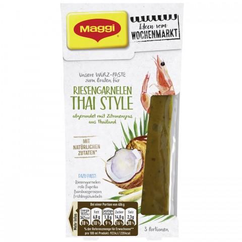 Maggi Wochenmarkt Würzpaste Riesengarnelen Thai Style 88 ml