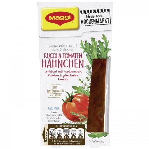 Maggi Wochenmarkt Würzpaste Rucola Tomaten Hähnchen