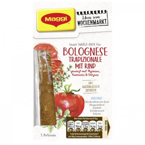 Maggi Wochenmarkt Würzmix Bolognese Tradizionale mit Rind 41 g
