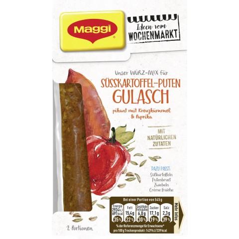 Maggi Wochenmarkt Würzmix Süsskartoffel-Puten Gulasch
