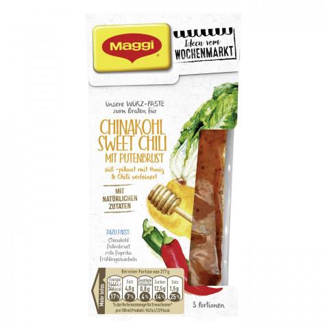 Maggi Wochenmarkt Würz-Paste Chinakohl Sweet Chili mit Putenbrust 84 ml