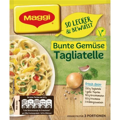 Maggi So Lecker & Bewusst Bunte Gemüse-Tagliatelle