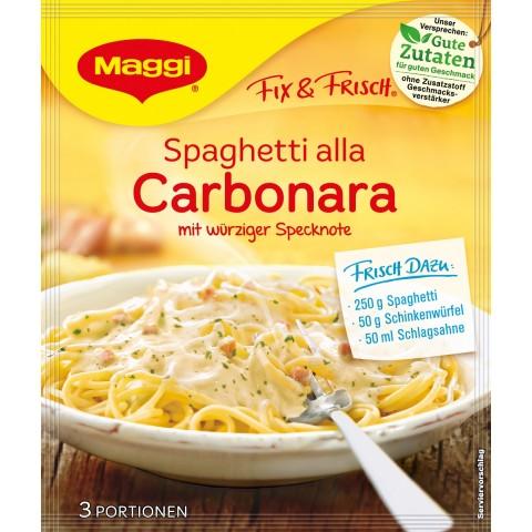 Maggi Fix & Frisch Fix für Spaghetti alla Carbonara