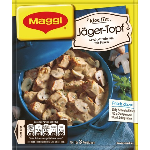 Maggi Idee für Jäger-Topf 30 g