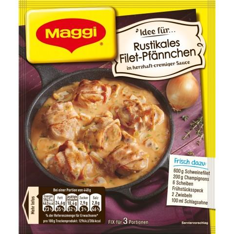 Maggi Idee für Rustikales Filet-Pfännchen