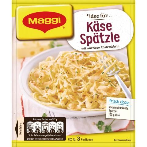 Maggi Idee für Käse Spätzle