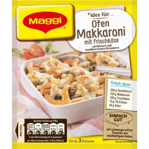 Maggi Idee für Ofen-Makkaroni mit Frischkäse