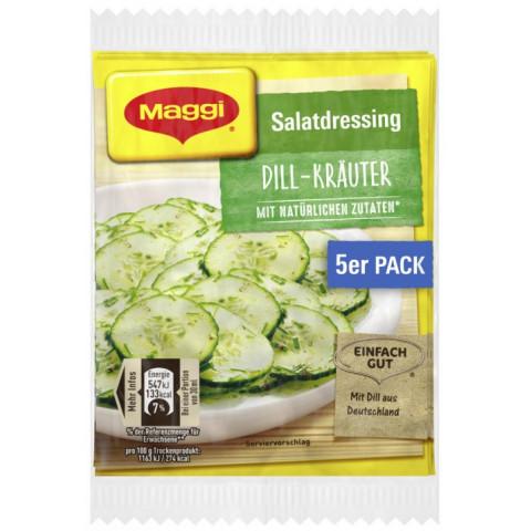 Maggi Salatdressing Dill-Kräuter 5x 9 g