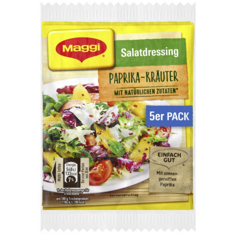 Maggi Salatdressing Paprika-Kräuter 5x 9 g
