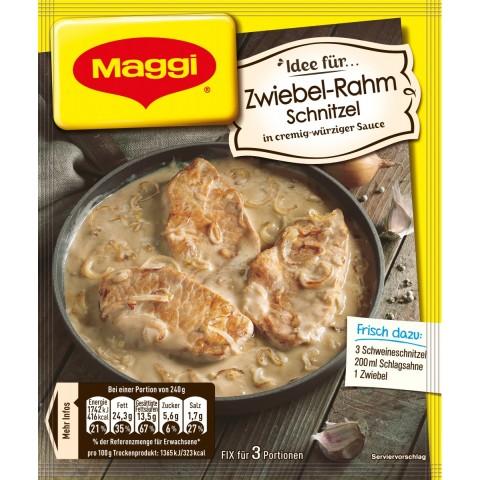 Maggi Idee für Zwiebel-Rahm Schnitzel 35 g