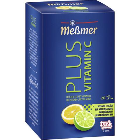 Meßmer Tee Plus Zitrone-Limette+Vitamin C 20x 2,5 g