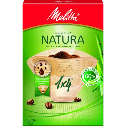Melitta Kaffeefilter Natura 1x4 80 Stück