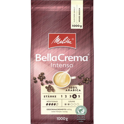 Melitta Bellacrema Intenso ganze Bohnen 1kg