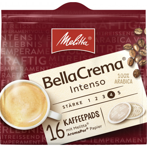 Melitta BellaCrema Kaffeepads Intenso 16ST 107G