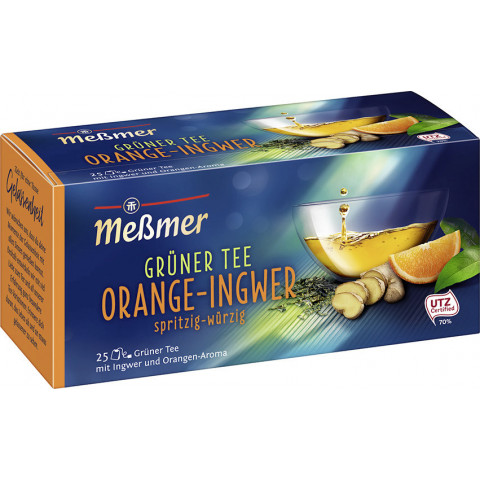 Meßmer Grüner Tee Orange Ingwer 25ST 43,8G