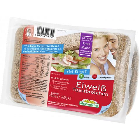 Mestemacher Eiweiß Toastbrötchen 4x 65 g