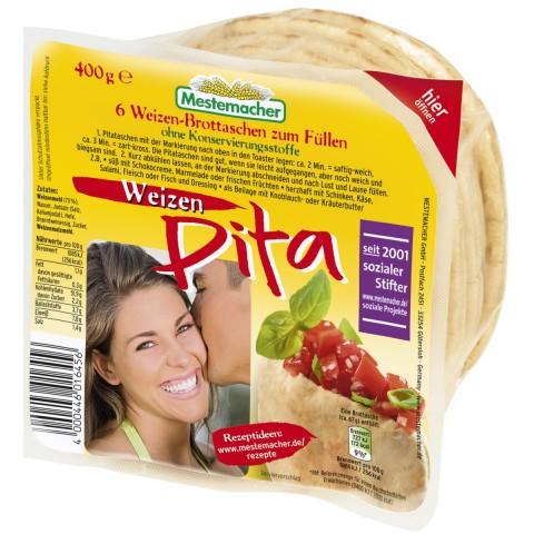 Mestemacher Pita Brottaschen Weizen