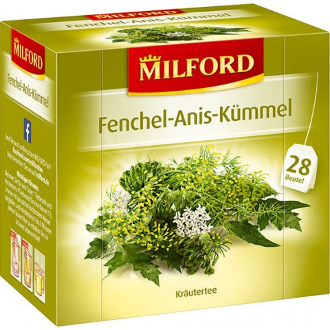 Milford Tee Fenchel-Anis-Kümmel 28x 2 g