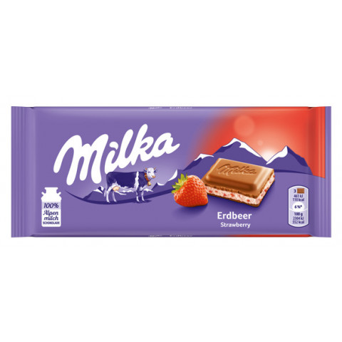 Milka Erdbeer Schokolade 100 g
