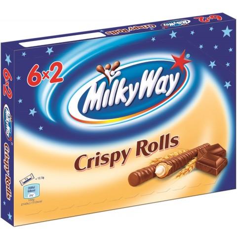 Milky Way Crispy Rolls 6ST 150G