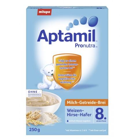 milupa Aptamil Milch-Getreidebrei Weizen-Hirse-Hafer ab dem 8. Monat