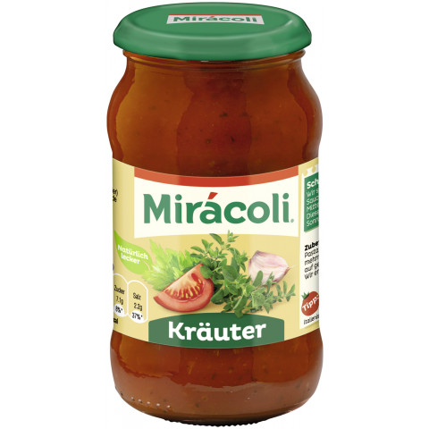 Miracoli Pasta Sauce Tomate Kräuter 400 g