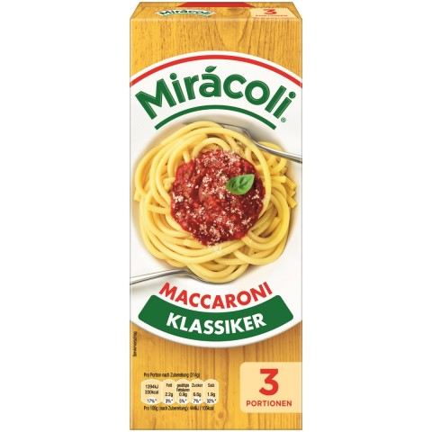 Miracoli Maccaroni Klassiker 3 Portionen