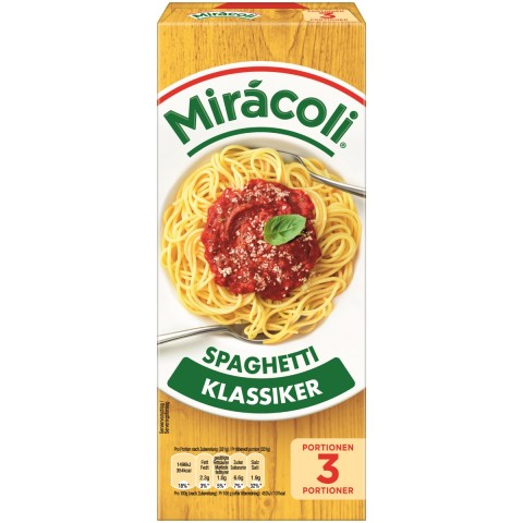 Miracoli Spaghetti mit Tomatensauce 3 Portionen