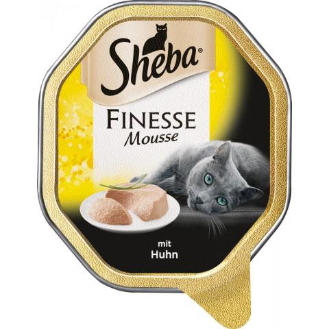 Sheba Finesse Mousse mit Huhn Katzenfutter nass