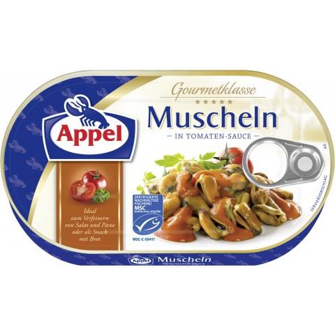 Appel Muscheln in Tomaten Sauce
