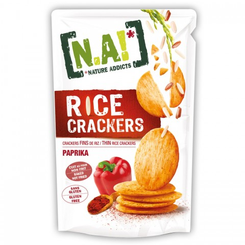 Nature Addicts Rice Crackers Paprika