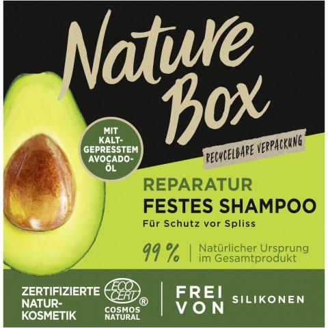 Nature Box Reparatur festes Shampoo Avocado-Öl 85G